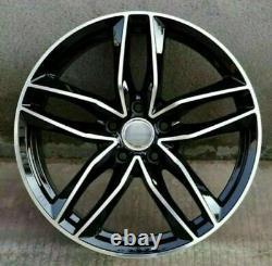Audi A4 A5 A6 A7 A8 Q5 SQ5 5x112 Black Polish x4 20 RS6-C Style Alloy Wheels