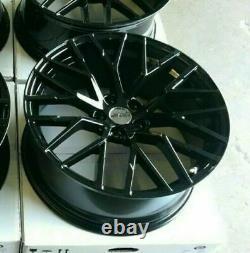 Audi A4 A5 A6 A7 A8 Q5 SQ5 Gloss Black x4 20 R8 Style Alloy Wheels 9J ET35