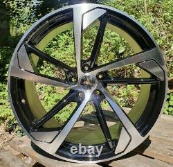 Audi A4 A5 A6 VW Scirocco x4 19 RS5 Style Alloy Wheels Black Pol 8.5J Et35