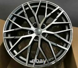 Audi A4 A6 VW Scirocco Grey Polished x4 19 R8 Style Alloy Wheels 8.5J ET35