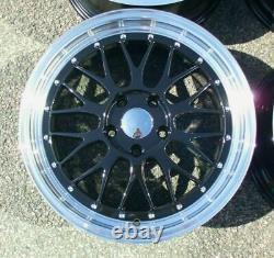 BBS x4 19 LM Style Alloy Wheels Black ML 5x120 8.5J Bmw 1 2 3 Series