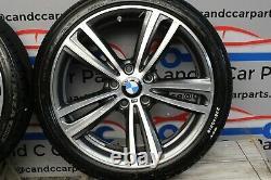 BMW 19 alloy wheels style 442M set of wheels diamond cut 8J Potenza tyres 19/4