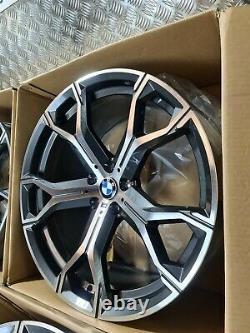 BMW X5 X6 741M Style 21 Alloy Wheels M Sport G05 G06 M50d 5x112 Staggered