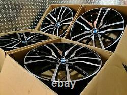 BMW X5 X6 742M Style 22 Alloy Wheels M Sport G05 G06 M50d 5x112 Staggered