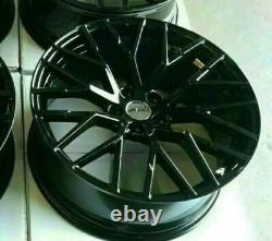 Black x4 20 Audi R8 Style Alloy Wheels Audi A4 A6 A5 A7 A8 Q5 SQ5