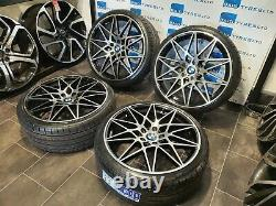 Bmw 20'' Inch Competition 666m Style New Alloy Wheels & Tyres Bmw 3 / 4 Series