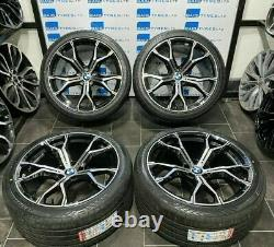 Bmw 21''inch 741m Style New Alloy Wheels & New Tyres Bmw X5/ X6 E70 E71 F15 F16