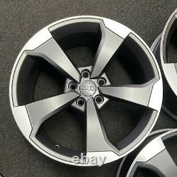 Ex Display 18 Audi RS3 Rotor Style Alloy Wheels Satin Grey Audi A3 + more