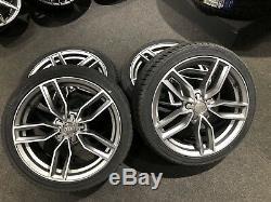 Ex Display 18 Audi S3 Style Satin Grey Alloy Wheels & 225/40/18 Tyres. Audi A3