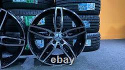Ex Display 18 Mercedes AMG Sport Style black Alloy Wheels A-Class B-Class CLA +
