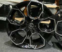 Ex Display 18 Skoda VRS Style Gloss Black Alloy Wheels 5x112 8Jx18 ET45