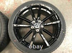 Ex Display 18 VW Golf Pretoria Style Alloy Wheels gloss Black & 225/40/18 Tyres