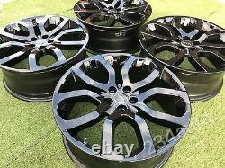 Genuine 20 Range Rover Evoque Alloy Wheels (gloss Black!) Style 6 504, Mint