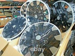 Land rover defender 18 inch diamond turned sawtooth alloy wheels x 5 oem style