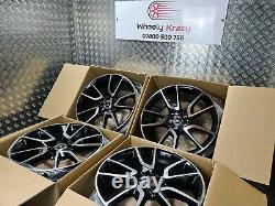 Mercedes E43 AMG Style 19 Alloy Wheels Twist W213 W222 E S Class Vito Staggered