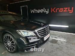 Mercedes E S Class 20 AMG Turbine Style Alloy Wheels W221 W222 W213 Night Ed