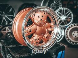 NEW 15 inch 4x100 4x114.3 Ronal style TEDDY BEAR Retro DEEP DISH alloy wheels VW