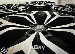 NEW 22 RANGE ROVER STYLE ALLOY WHEELS 5x120 GLOSS BLACK DIAMOND CUT