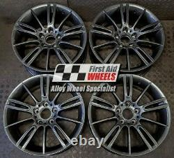 R103A Swap BMW 3 SERIES 4x 18 GENUINE STYLE 193M MV3 ANTHRACITE ALLOY WHEELS