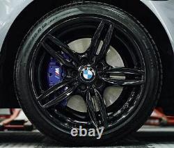R379BG Swap BMW 5 6 SERIES 4X 19 GENUINE STYLE 351M GLOSS BLACK ALLOY WHEELS