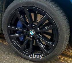 R448BG Swap BMW X5 F15 X6 F16 4X 20 GENUINE STYLE 469M GLOSS BLACK ALLOY WHEELS