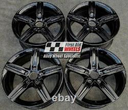 R498BG Exchange BMW 1 2 SERIES 4x 17 GENUINE STYLE 379 GLOSS BLACK ALLOY WHEELS