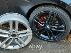 R579BG Swap BMW 1 2 SERIES 4x 18 GENUINE STYLE 461M GLOSS BLACK ALLOY WHEELS