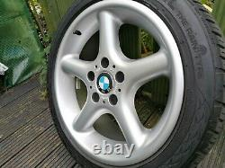 Refurbished BMW 17 Alloy Wheels E34 E39 Z3 E36 Style 18 Staggered 8J & 9J RETRO