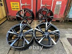 Rs6e Style 19 Alloy Wheels Black Pol Fits Audi A4 A5 A6 A7 A8 Q3 Q5 Tt Rs5 S4