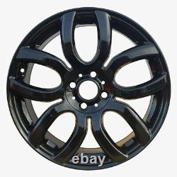 X4 17 Mini Cooper Jcw Style Alloy Wheels 7j Et48 Black Fits Mini Cooper 4x100