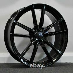 X4 18 Golf R Pretoria Style Alloy Wheels VW Golf Caddy Seat Black 5x112