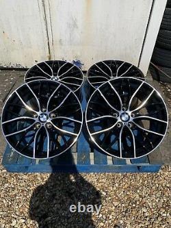 X4 19 BMW M405 Style Black/Pol Alloy Wheels Only BMW 3 Series F30 F31 & X-Drive