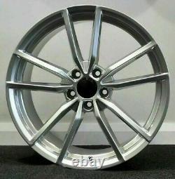 X4 19 Golf R Pretoria Style Alloy Wheels VW Golf Caddy Seat Silver 5x112