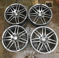 X4 Genuine 18 Inch Rs4 Style Alloy Wheels Audi Tt A3 A4 Vw Golf Caddy Grey