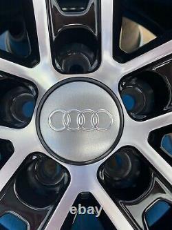 17 Jantes En Alliage De Style Santiago Uniquement Noir/diamant Coupé Pour S'adapter Audi A3 (2004-sur)