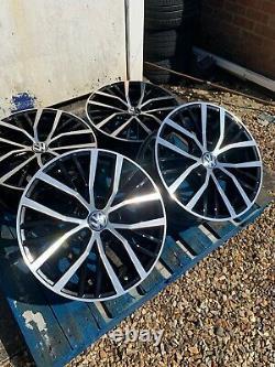 17 Polo Gti Style Alloy Wheels Seul Le Visage Noir/poli Pour S'adapter À Volkswagen Polo