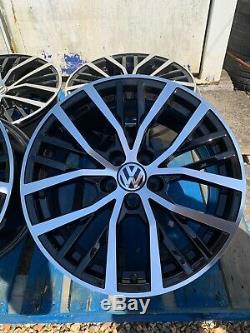 17 Polo Gti Style Jantes En Alliage Seul Visage Noir / Poli Pour S'adapter Volkswagen Polo