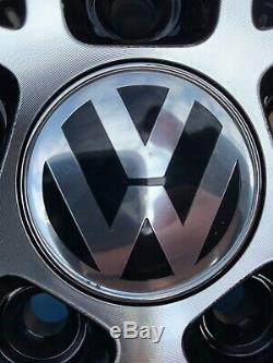 17 Santiago En Alliage De Style Roues Et Pneus Noir / Poli Volkswagen Golf Mk 5 6 7