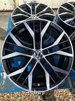 17 Santiago Style Alliage Roues Seulement Noir / Diamant Coupé Pour S'adapter Volkswagen Polo