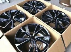 18 1920nouveau Rs7 Style Alliage Roues Gloss Noir/diamond Coupe Pour S'adapter Audi