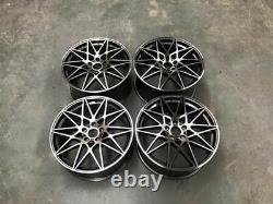 18 666m Competition Style Alloy Wheels Gun Metal Machined F20 F21 F22 F23 Bmw