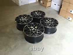 18 666m Concurrence Style Alliage Wheels Gloss Black Usiné F20 F21 F22 F23 Bmw