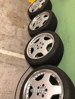 18 Amg Style Monobloc Alloy Wheels Tyres W126 W124 Vw R129 R230