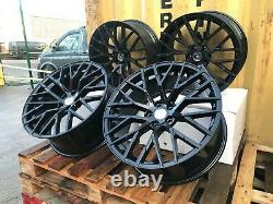 18 Audi R8 V10 Style Alloy Wheels Gloss Black Vw Golf Mk5 Mk6 Mk7 Mk7.5