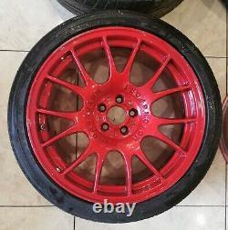 18 Bbs Ch Alliage De Style Roues 5x100 Golf Mk5 Vw R32 Gti Seat Leon Skoda Fabia A1
