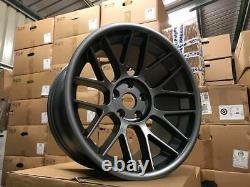 18 Bbs En Alliage De Style Rc Roues Massive Concave Gun Metal Bmw M5 E60 E61 M3 E46