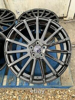 18 Ford Rs Style Alloy Wheels Only Gloss Black Pour S'adapter À Ford Focus 2004-présent