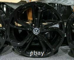 18 Gloss Black Vw Golf Gti Tcr Style Alliage Roues Golf Caddy Tiguan + Plus