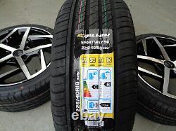 18 Golf Dallas Style Alloy Wheels+tyres Fits Vw Golf Mk5 Mk6 Mk7 (x4)