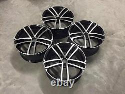 18 Golf Gtd Nogaro Style Alloy Wheels Gloss Black Machined Vw Mk5 Mk6 Mk7 Mk7.5